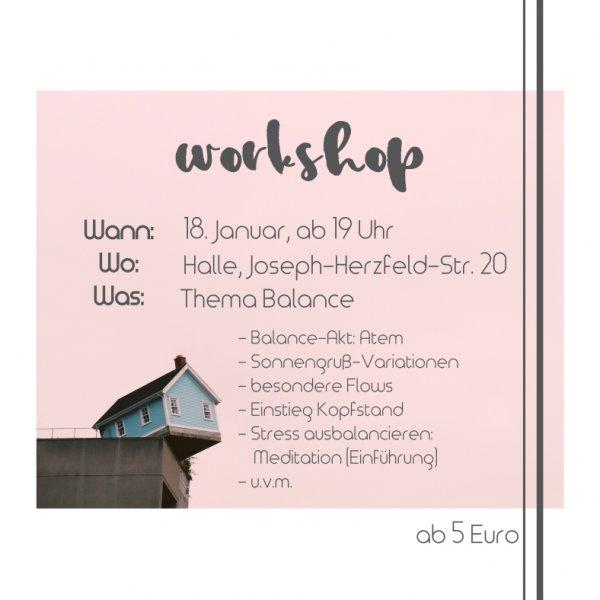 Yogabati Yoga Workshop Balance Januar 2018