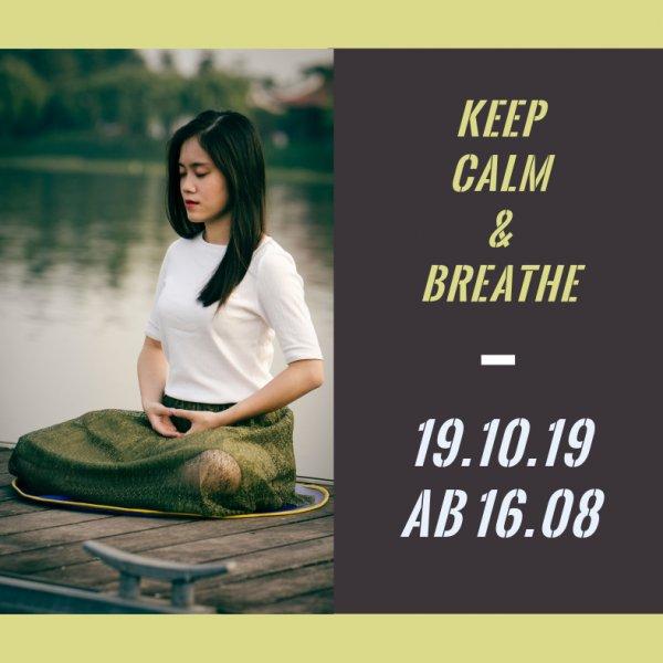 Keep Calm & Breathe Yogaworkshop bei Yogabati