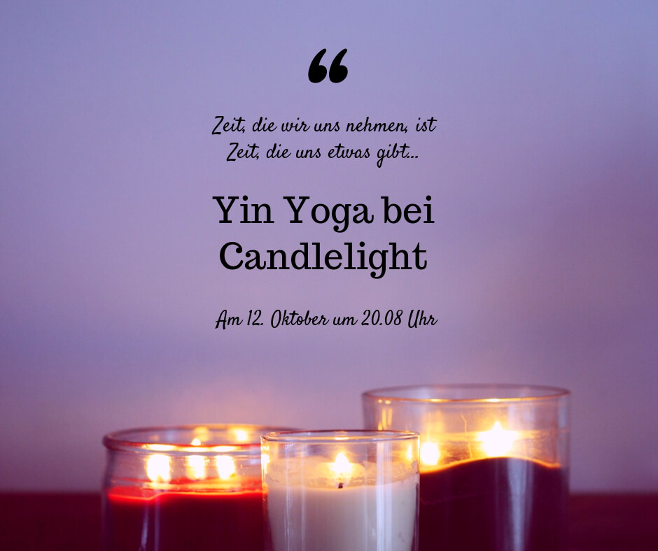 Candlelight Yoga bei Yogabati in Rostock